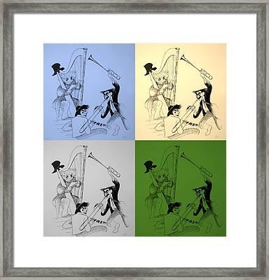 Marx Brothers Quad Colors I I Framed Print by Rob Hans