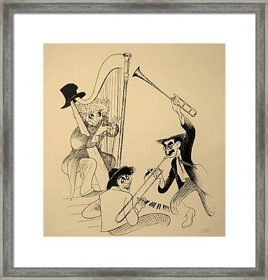 Marx Brothers Sepia Framed Print by Rob Hans