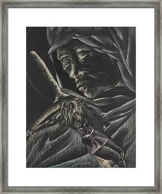 Mary-aged Framed Print by Michelle Miller