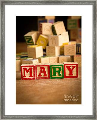 Mary - Alphabet Blocks Framed Print by Edward Fielding