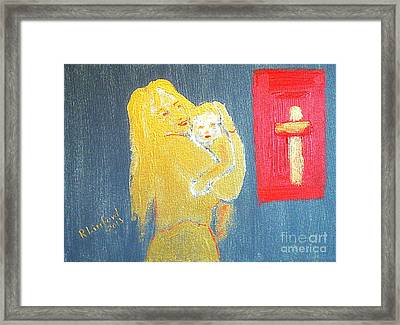 Mary And Baby Jesus 1 Framed Print by Richard W Linford