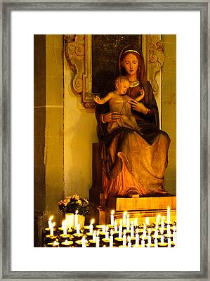 Mary And Baby Jesus Framed Print by Syed Aqueel
