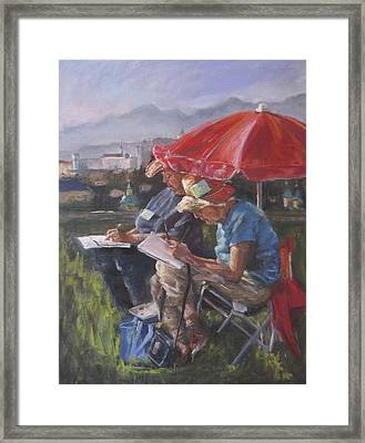 Mary And Deyls In Salzberg Framed Print
