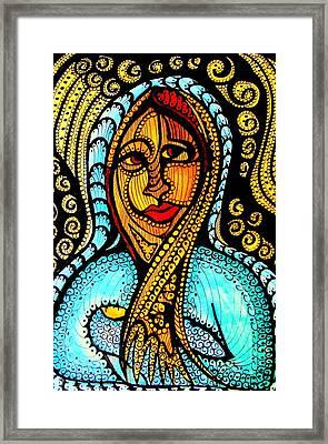 Mary And Jesus Framed Print by Gerri Rowan