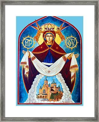 Mary And The Holy Church Framed Print by Munir Alawi