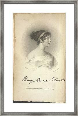 Mary Anne Clarke Framed Print