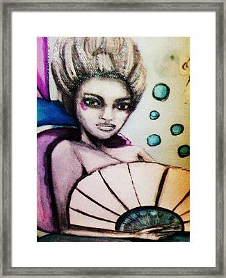 Mary Antoinette The Mermaid Framed Print