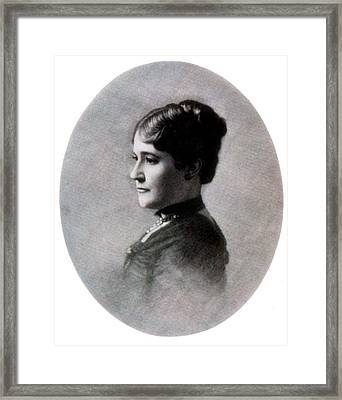 Mary Arthur Mcelroy, White House Hostess Framed Print by Science Source