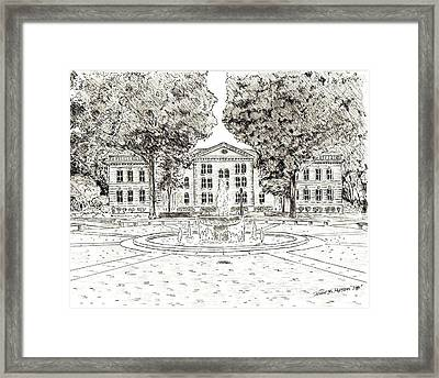 Mary Branch Dorm-randolph Macon College Framed Print by John Hopson