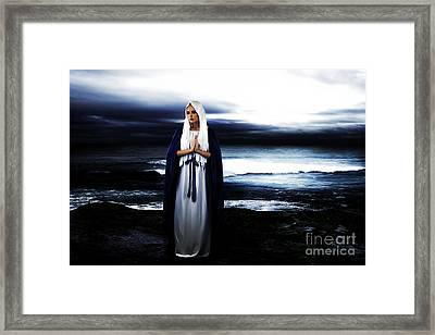 Mary By The Sea Framed Print by Cinema Photography