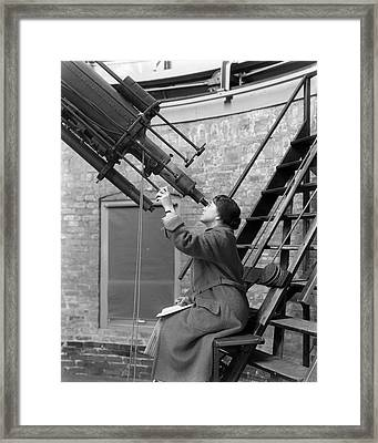 Mary Calvert Framed Print by Yerkes Observatory, Courtesy Emilio Segre Visual Archives/american Institute Of Physics