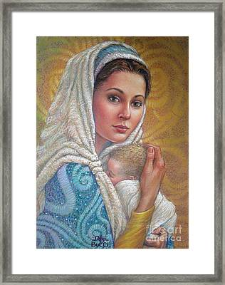 Framed Print featuring the pastel Mary Did You Know    by Jane Bucci