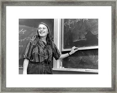 Mary Gaillard Framed Print by Emilio Segre Visual Archives/american Institute Of Physics