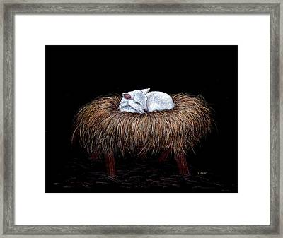 Mary Had A Little Lamb Framed Print by Dee Dee  Whittle