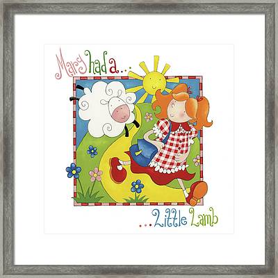 Mary Had A Little Lamb Framed Print by P.s. Art Studios
