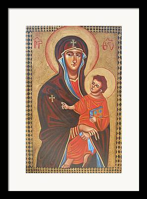 Mary Help Of The Romans Framed Prints