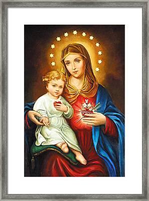 Mary Immaculate Heart Framed Print