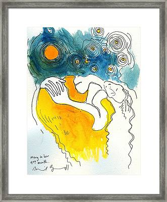 Mary In Her 9th Month Framed Print by Daniel Bonnell