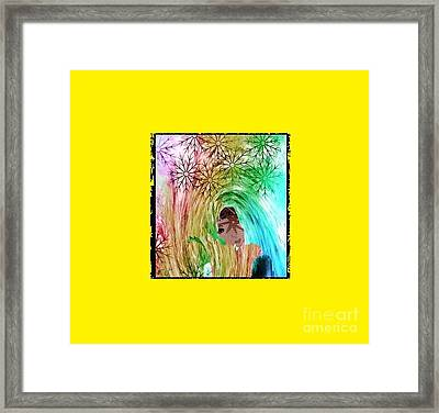 Mary In The Field Framed Print