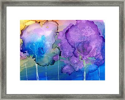 Mary In The Woods Framed Print
