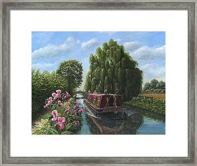 Mary Jane Chesterfield Canal Nottinghamshire Framed Print by Richard Harpum