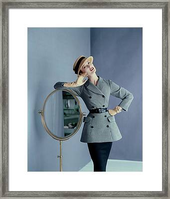 Mary Jane Russell Wearing A Wool Suit Framed Print