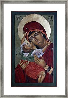 Mary Kadiotissa Framed Print by Mary jane Miller