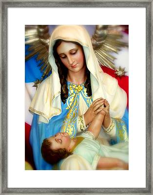 Mother Mary Framed Print by Karen Wiles