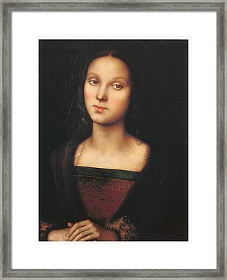 Mary Magdalen Framed Print by Pietro Perugino