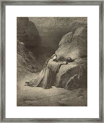 Mary Magdalene Framed Print by Antique Engravings