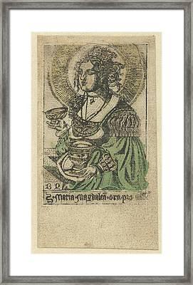 Mary Magdalene, Monogrammist Bd Graveur Framed Print by Monogrammist Bd