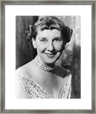 Mary mamie Dowd Eisenhower Framed Print by Underwood Archives