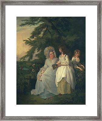 Mary Margaret Wood And Two Framed Print by Francis Wheatley