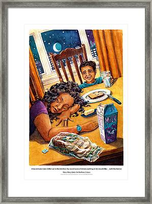 Mary Mary Quite On Bedtime Crimes Framed Print