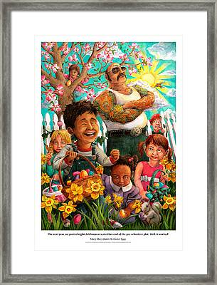 Mary Mary Quite On Easter Eggs Framed Print