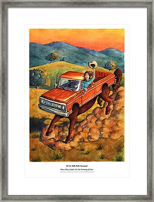 Mary Mary Quite On The Naming Of Cars Framed Print