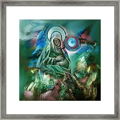 Mary Mother Of Jesus Framed Print by Glenn Bautista