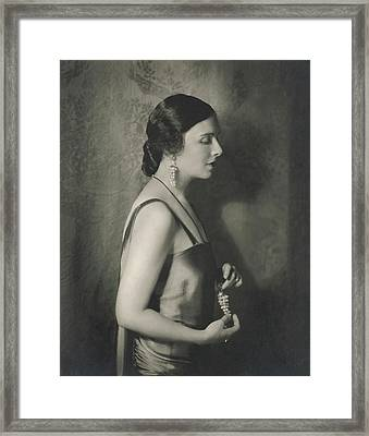 Mary Nash Wearing Jewellery By Marie El Khoury Framed Print