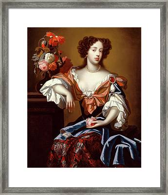 Mary Of Modena Signed, Center Left S Framed Print by Litz Collection