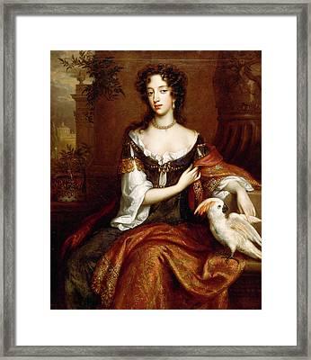Mary Of Modena Signed, Center Left W. Wissing Fecit Framed Print