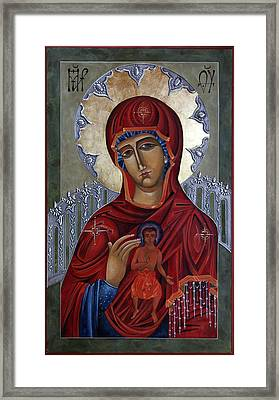 Mary Of The Burning Bush Framed Print by Mary jane Miller