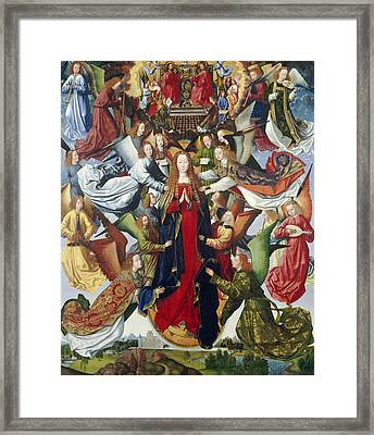 Mary, Queen Of Heaven, C. 1485- 1500 Oil On Panel Framed Print by Master of the Legend of St. Lucy