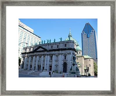 Mary Queen Of The World Cathedral Framed Print by Lingfai Leung