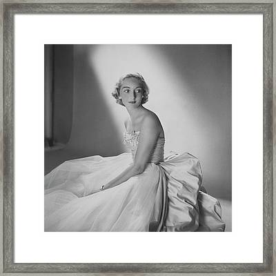 Mary Sargent Ladd Wearing A Tulle Dress Framed Print