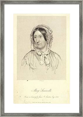 Mary Sommerville Framed Print by British Library