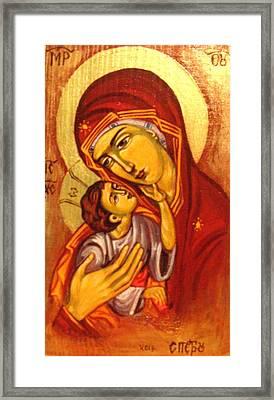 Mary Framed Print by Sonya Grigorova
