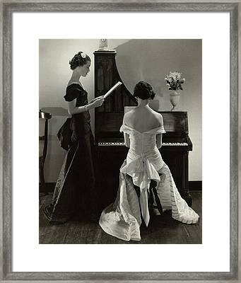 Mary Taylor And Mrs Robert H Mcadoo Framed Print by Edward Steichen