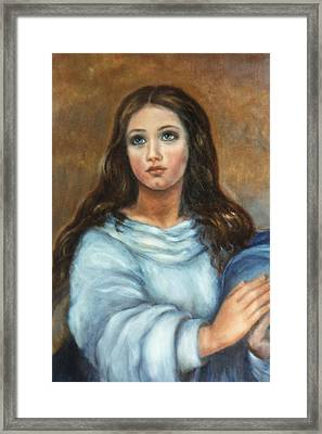 Mary Framed Print by Terry Sita