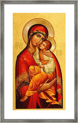 Mary The God Bearer Framed Print