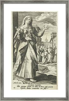 Mary, The Mother Of The Sons Of Zebedee, Karel Van Mallery Framed Print
